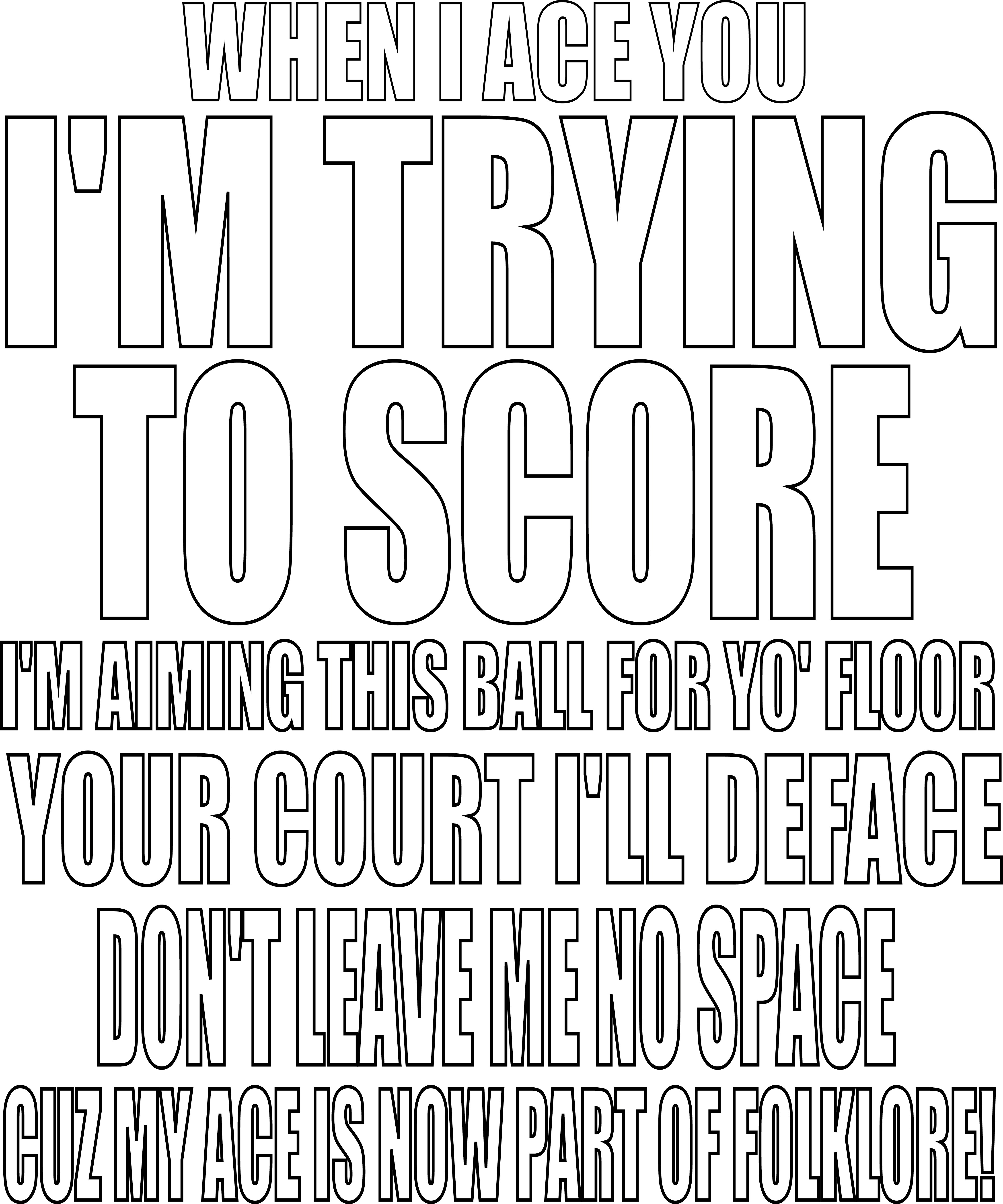 Volleyball Sayings: When I Ace You Im Trying To Score
