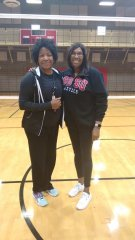 Me and friend, former teammate and University of Hawaii NCAA champion, current head coach at San Diego State, Olympian Deitre Collins Parker