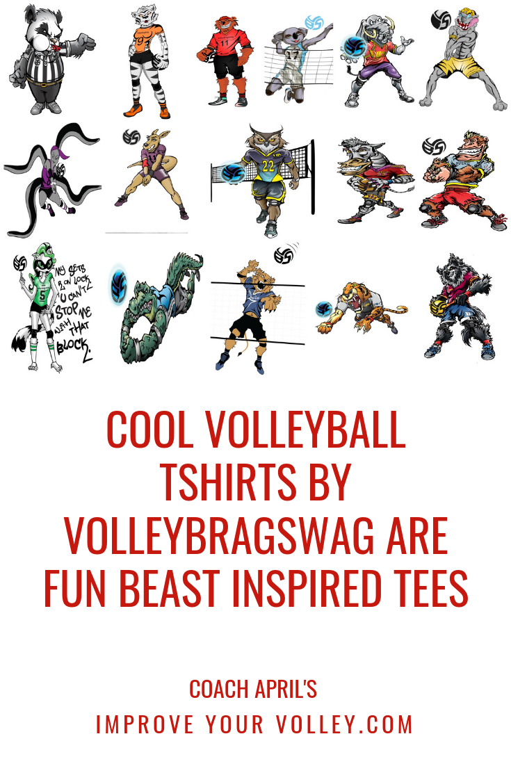 Cool Volleyball TShirts By Volleybragswag Are Fun Beast Inspired Tees