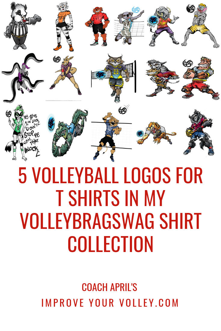 5 Volleyball Logos For T Shirts In My Volleybragswag Shirt Collection