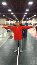 Me and my big bro Gary Sato at the USA Volleyball High Performance Championships in Fort Lauderdale, Florida