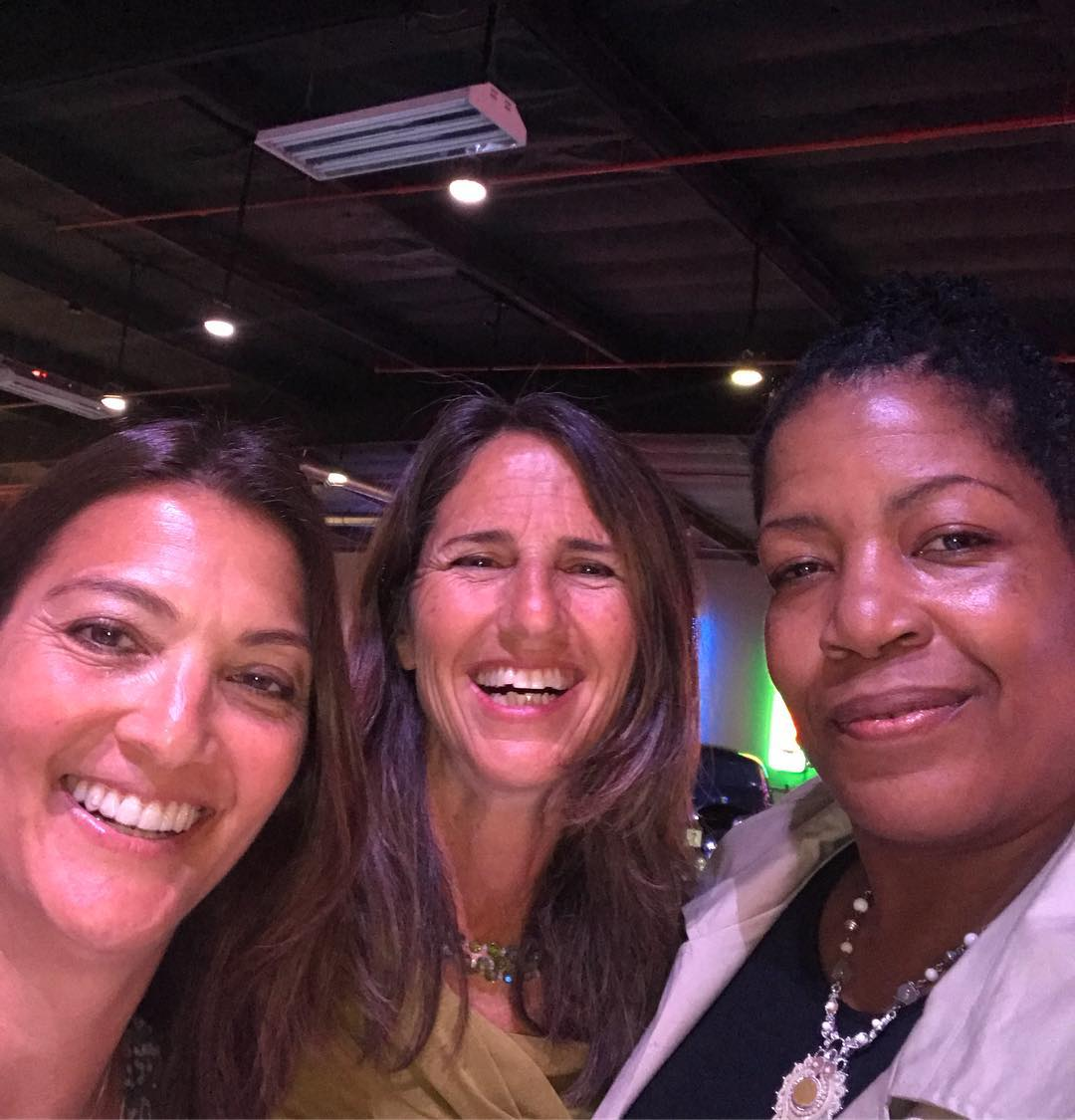 Beach and Indoor Olympian Liz Masakayan, UCLA middle blocker legend Merja Connolly and Coach April, former National Team and World University Game teammates