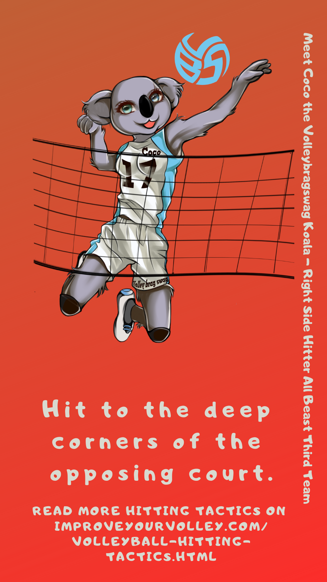 Hitting Tactics: Hit to the deep corners of the opposing court