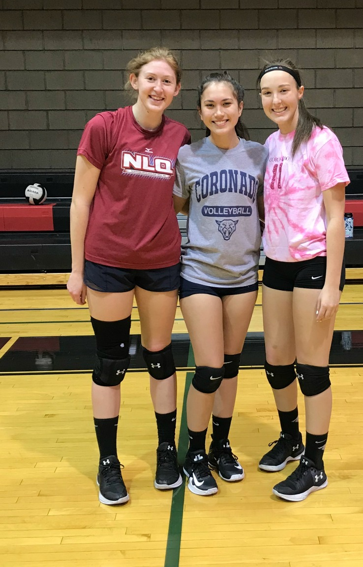 Coronado Crew Cassie, Clarissa and Kelsey Semi Private Training Volleyball Classes with Coach April