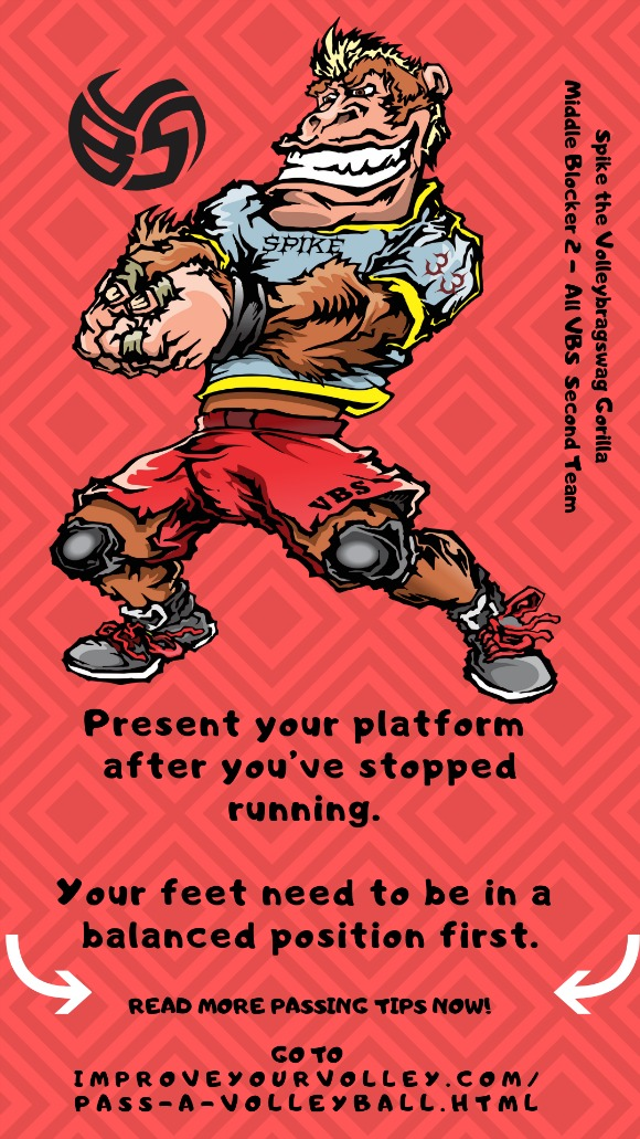 Present your platform after you've stopped running. Your feet need to be in a balanced position first.