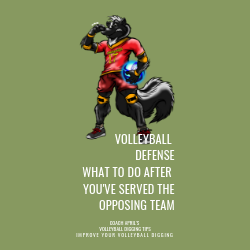 Volleyball Defense What To Do After You've Served The Opposing Team