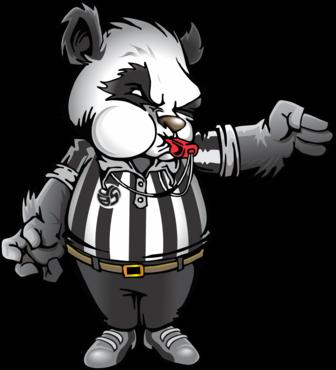 Panda Mo.Nium the Volleybragswag Giant Panda - Referee