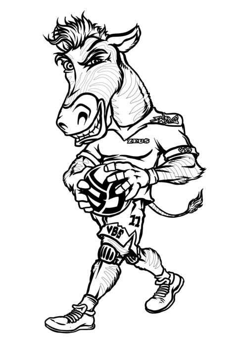 Volleybragswag Zebra Coloring Pages