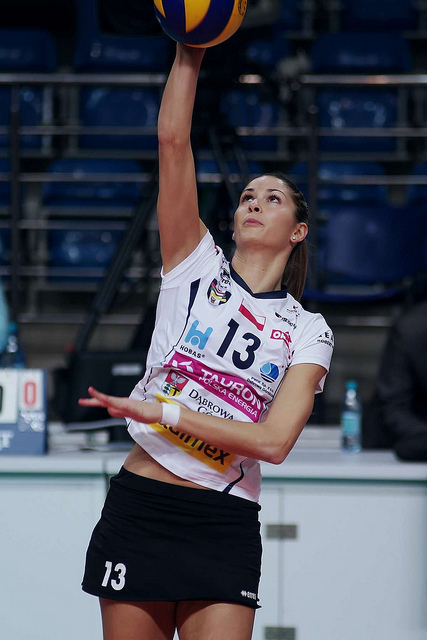 The volleyball serve is the first opportunity for a player to score a point (Jaroslaw Popczyk)