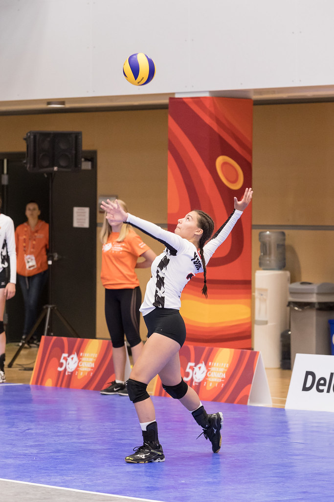 Once behind the line take a look at the opposing team's serve receive pattern and look for the player or the area of the court you want to serve to.  (Matt Duboff)