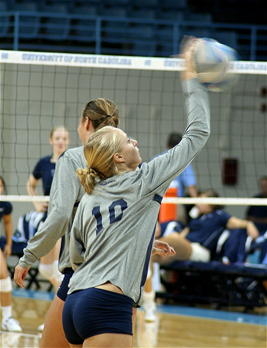 Big Ten Penn State setter warming up (photo Charlie J)