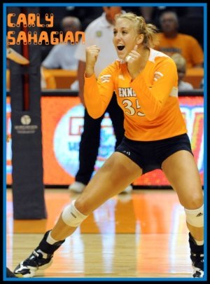 University of Tennessee, Knoxville volleyball hitter Carly Sahagian answers my spikers volleyball questions. photo courtesy of UT Media Relations