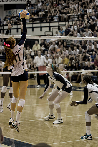 Learn volleyball: the spike (Gallery Three)