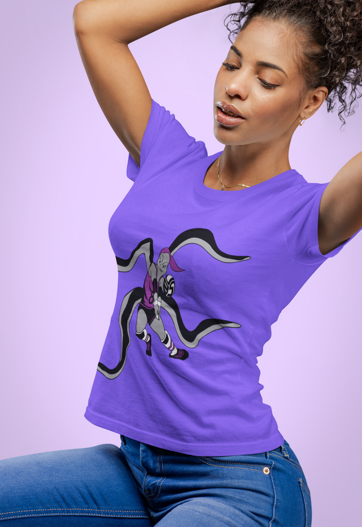 VBS Volleyball T-Shirts Feature Miss O.I. Gotchu the Libero Volleybragswag Octopus and Special Defensive Team Leader