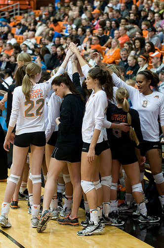 The Pac 12 conference Oregon State volleyball team