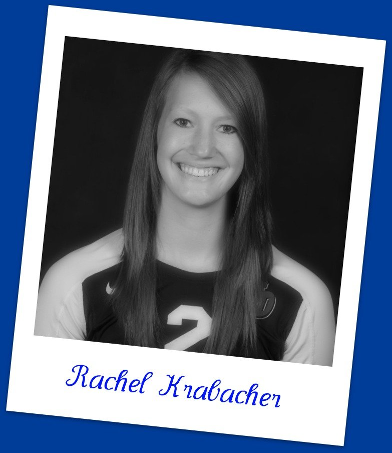 University of Dayton volleyball hitter Rachel Krabacher answers my volleyball interview questions.