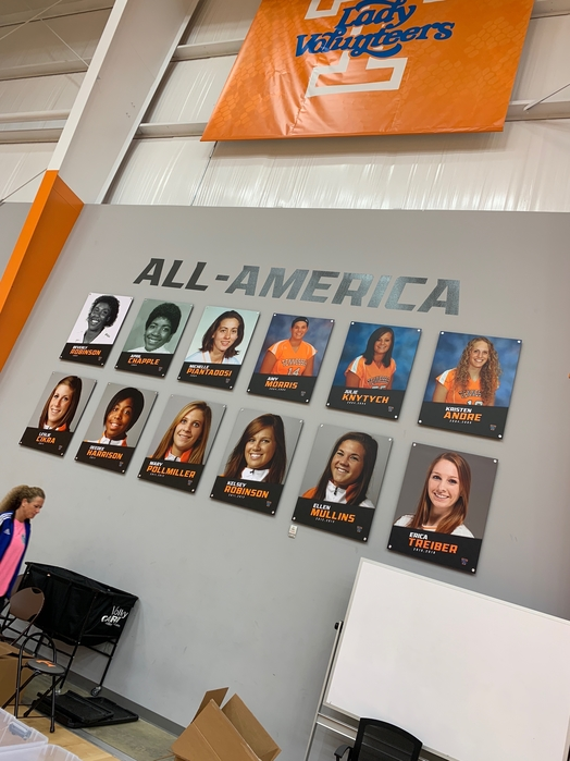 University of Tennessee Knoxville Walll of all Americans - That's me second from left in the top row and that's Kelsey Robinson, third from the right in the second row.