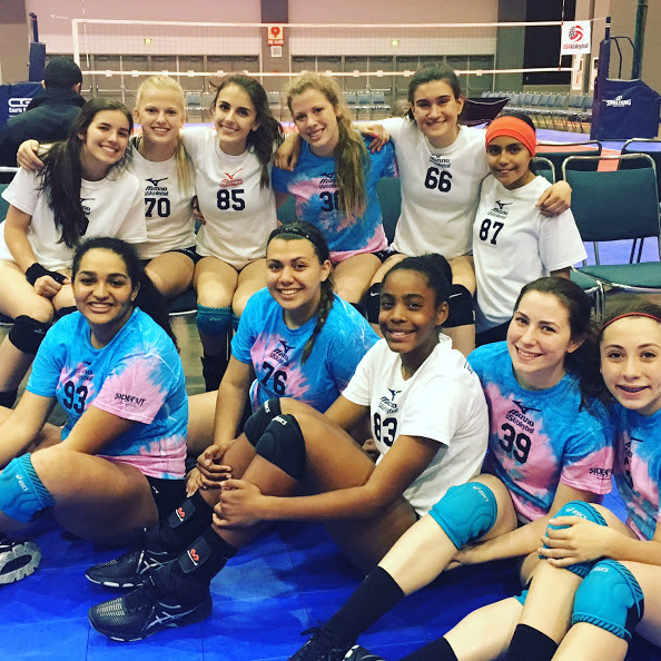 Volleycats Elite VBC players at USA High Performance