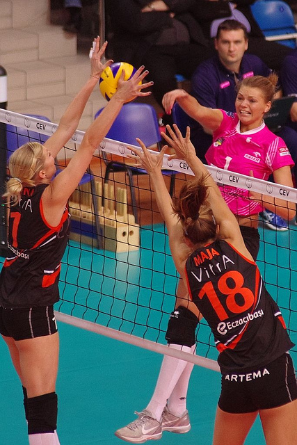 These volleyball blocking drills players do in our training and classes will help you control your body so you can increase the number of blocks you have in a match. (Jaroslaw)
