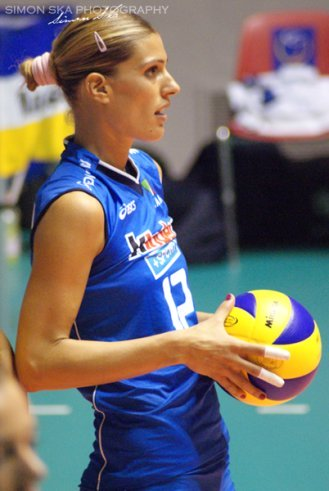 Francesca Piccinini is one of Italy's most famous volleyball players. (Simon Ska)