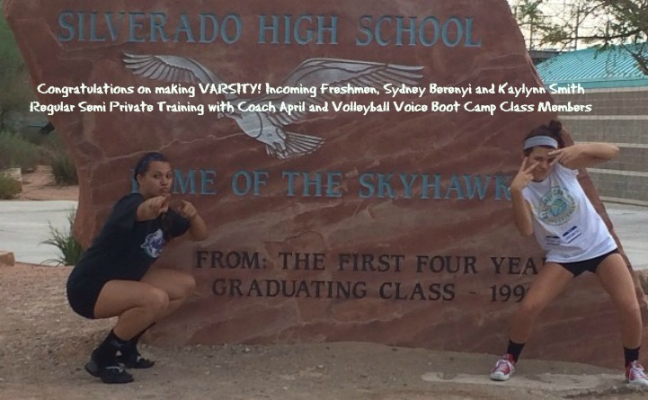 2017 Nevada State Gatorade Player of the Year Sydney Berenyi and Silverado teammate Kaylynn Smith have been Boot Camp class regulars and/or semi private training clients for five years.