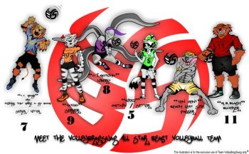 Volleybragswag All Beast Team - The Starting Six
