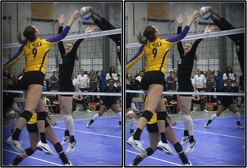 Volleyball Tipping Strategy: Catch the defense back on their heels because they expected you to hit hard and instead you tipped it softly over their block, short in their court. (Michael E. Johnston)