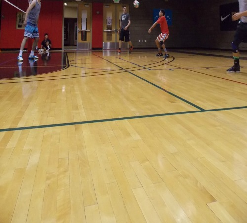 The Attack Lines on the Stupak Community volleyball courts
