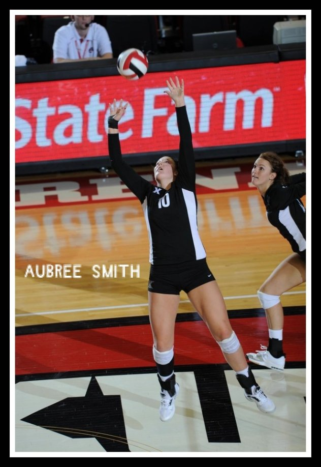Learn how to set a volleyball (photo of Aubree Smith)