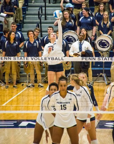 The Volleyball Blocking Definition: Once your team serves the ball over the net, you guys are now