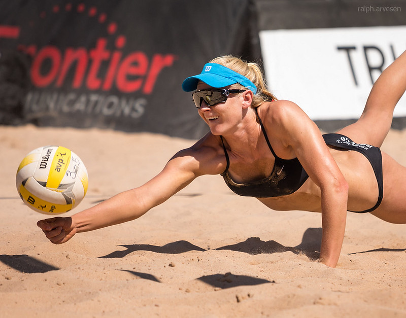 Playing beach volleyball helps increase leg speed. Fast moving legs means you need less time to cover more area of the court in defense. (Ralph Aversen)