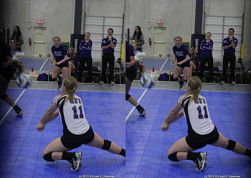 Your Volleyball Platform: Your arms, outstretched in front of you and held together keeping elbows straight, contact the bottom third of the ball so its deflected in the air