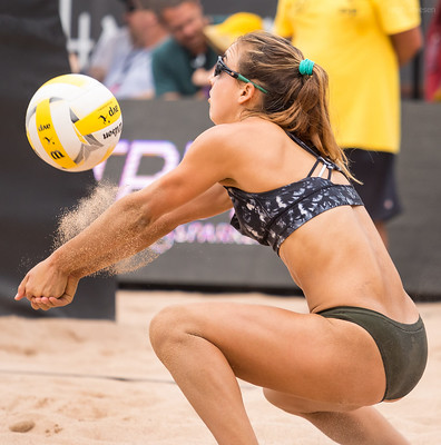 The secret to better passing in beach volleyball is to move your feet so you get your body behind the ball, when you can, you want to play the ball within the centerline of your body. (Ralph Aversen)
