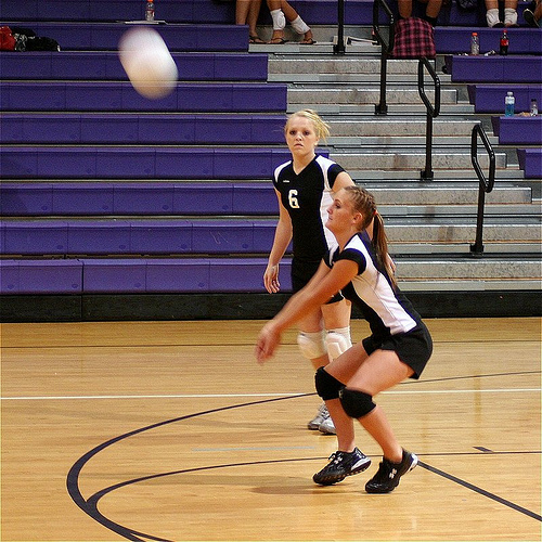 Volleyball passing drills need to be done daily with a goal of at least 250 - 500 reps of various drills to keep you technique and accuracy sharp! (Photo by Char1iej1)