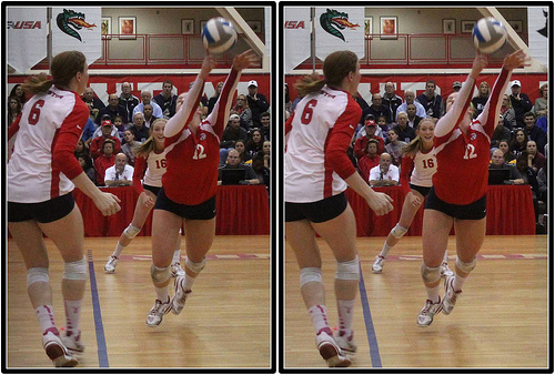 How To Communicate in Volleyball: If This Player Digs It Up Its The Next Contact Is Going To Be A Free Ball For The Opposing Team  (photo by Michael E. Johnston)