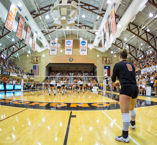 Serving the ball short to the players in the front row is one of the sneakiest volleyball serve tactics to use because it helps shorten their spike approach.  (Ralph Aversen)