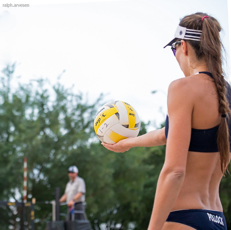 Use your beach volleyball serving to force the opposing team's players to move from their in-system passing positions to pass your difficult serve. (Ralph Aversen)