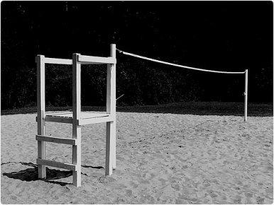 Volleyball Images: Beach Court in Black and White (Ken Mattison)