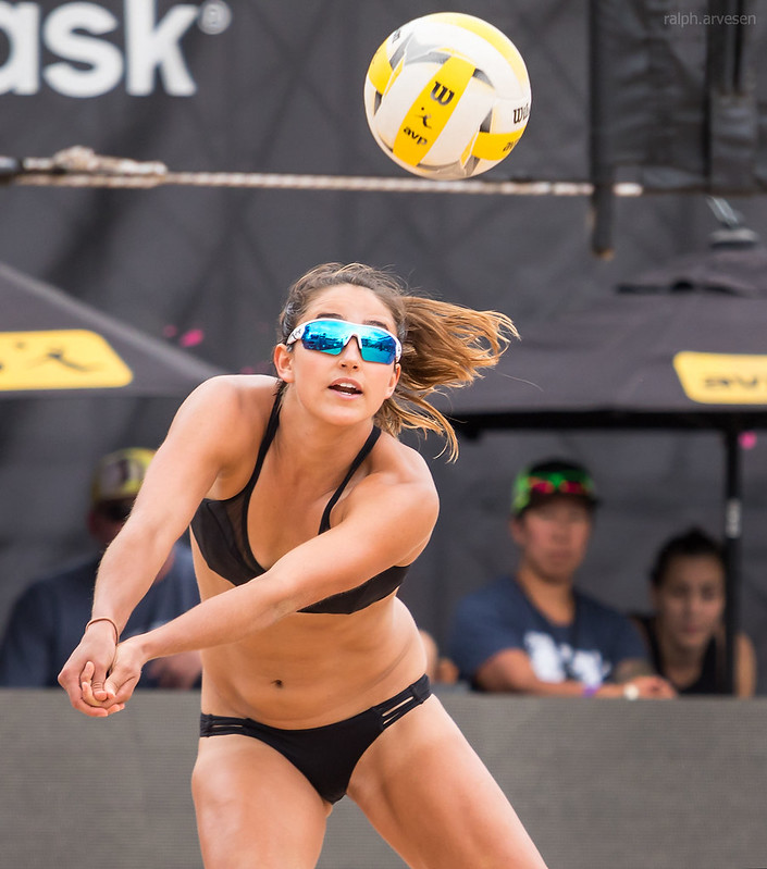 If you can't pass the beach volleyball ball then you can't play the game. This is valid for the indoor game but even more true for new beach volleyball girls learning the sand game. (Ralph Aversen)