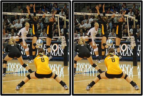 Volleyball Positions: Wichita State Shockers Libero in Defense  Photo by Michael E. Johnston