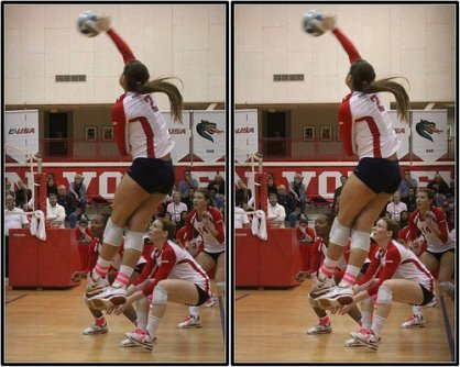 Volleyball Hitting With Power Begins With A Strong Three Step or Four Step Spike. (photo Michael E Johnston)