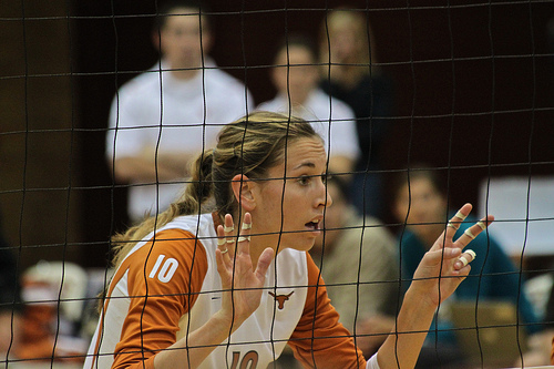 9 Backcourt Defense Volleyball Tips: Ashley Engle calls out how. many opposing team hitters are in the front row.