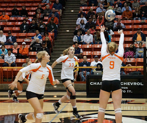 Learn how to set a volleyball: UOP Volleyball Setter  Photo by inkyhack