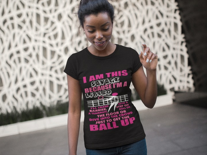 Volleyball T-Shirts Sayings: I am this Fast, because I'm a LIBERO