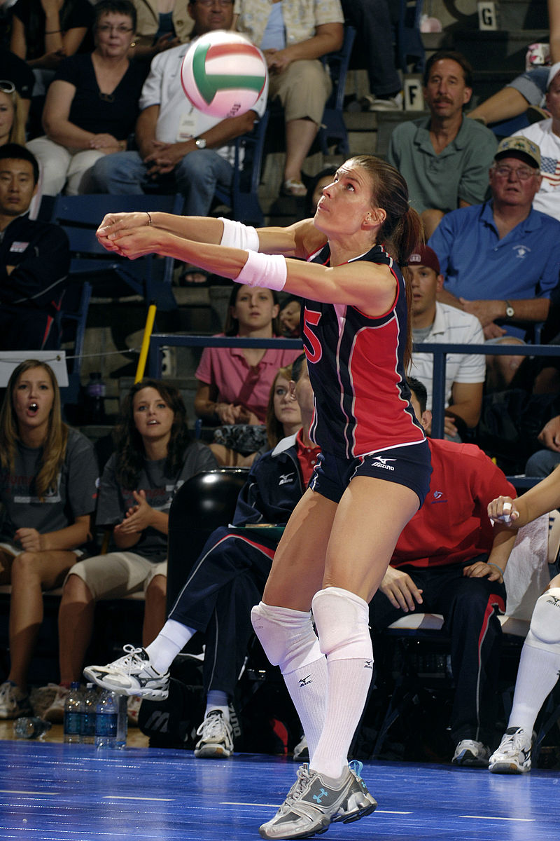 Stacy Sykora (in foreground) USA Volleyball Olympic Bronze medalist - 2000 Sydney, 2nd best digger in the Olympics, 2004 Voted Best Libero in the Athens Olympics