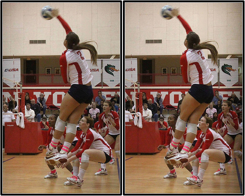 When learning how to play volleyball  its important to learn the importance of hitting to different areas of the court.
