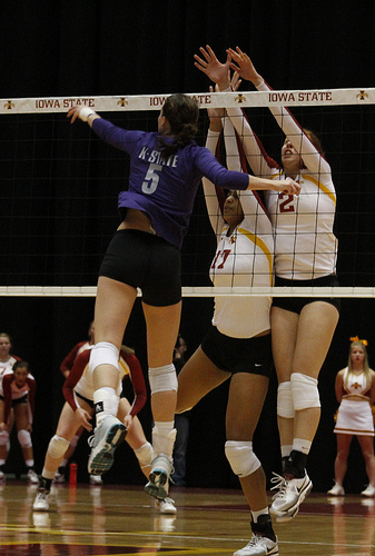 The Iowa State Volleyball Block.