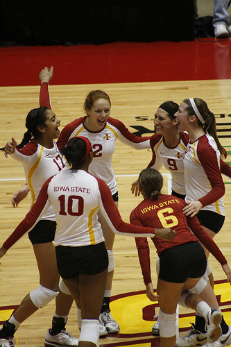 Iowa State female volleyball players