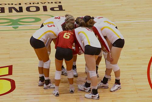 USC huddle