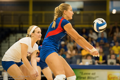 Forearm Pass in Volleyball(Mark Shaiken photo)